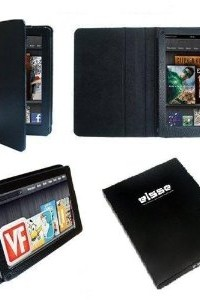 Elsse Premium Folio Case for Kindle Fire Cover - Black