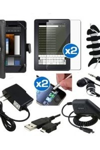 10 Item Accessory Bundle Kit for New Amazon Kindle Fire, Full Color 7 - Inch Multi-touch Display, Wi-fi