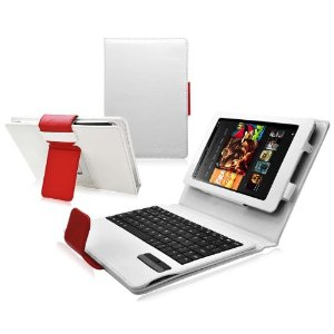 Bluetooth Keyboard Tablet Stand Leather Case for Amazon Kindle Fire HD 8.9