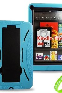 Cellularvilla Combo Case for Amazon Kindle Fire Hybrid Armor Kickstand Hard Soft Case Cover-Light Blue