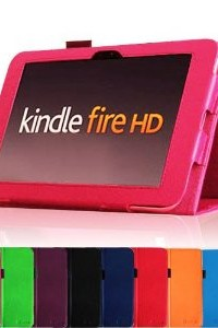 Slim Fit Leather Case Cover Auto Sleep/Wake for Kindle Fire HD