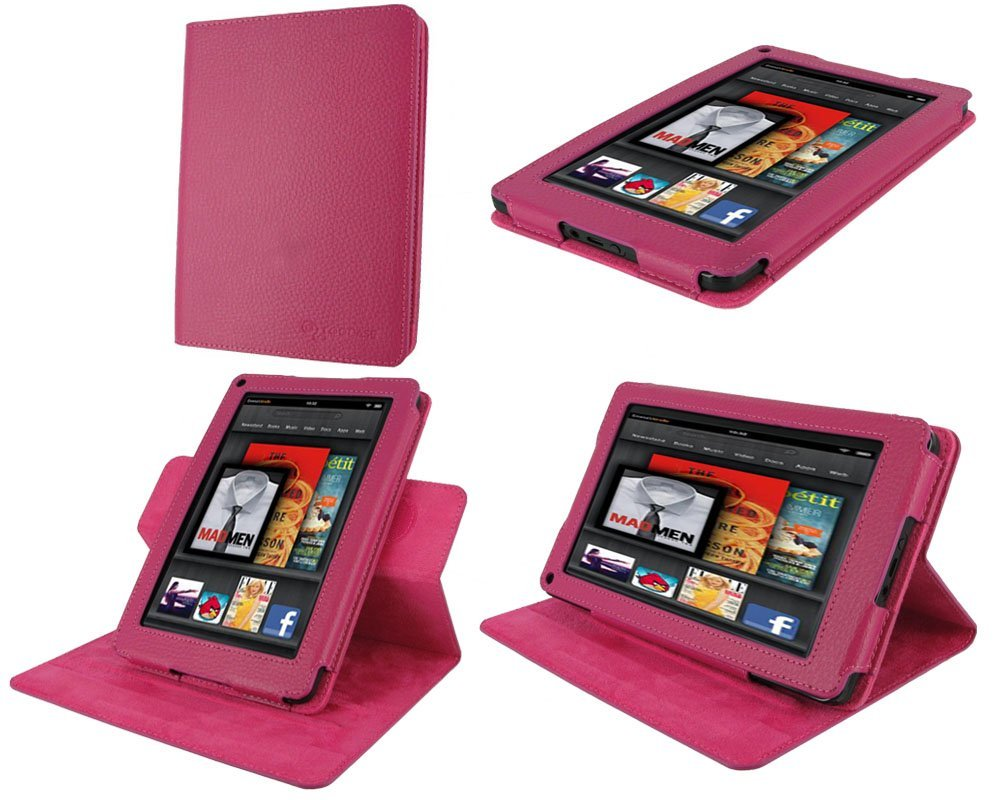 rooCASE Dual-View Multi Angle Folio Case Cover for Amazon Kindle Fire height=