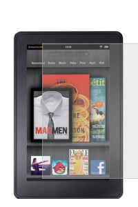 amFilm Premium Screen Protector Film Clear (Invisible) for Kindle Fire (2-Pack)