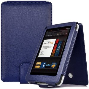 CaseCrown Regal Flip Vertical Case (Blue) for Amazon Kindle Fire Tablet