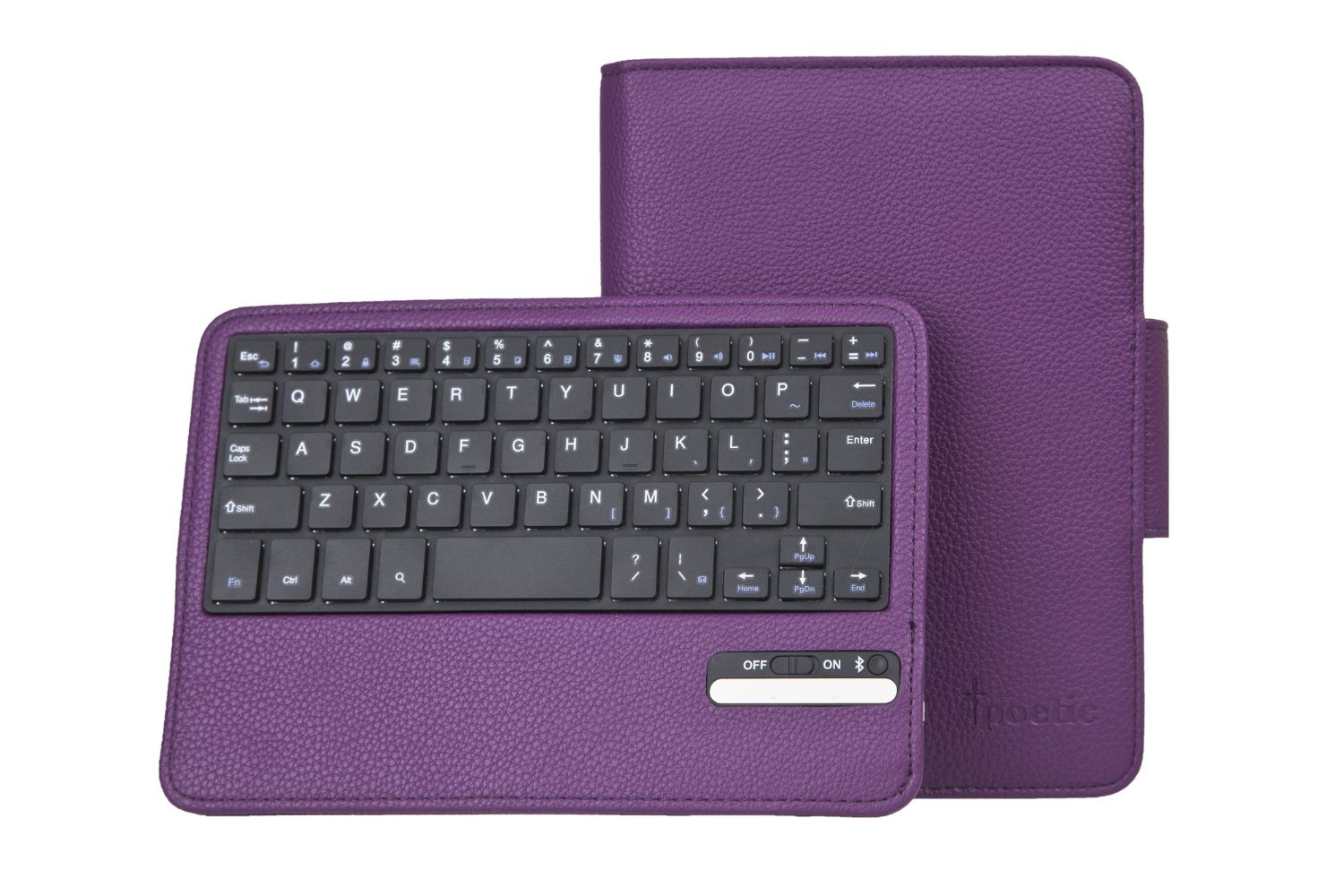 Poetic KeyBook Bluetooth Keyboard Case for Kindle Fire HD 7.0 Purple(Support Auto Sleep/Wake Function)