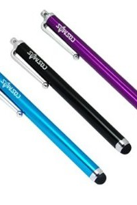 3 pcs COSMOS  Aqua Blue/Black/Purple Stylus/styli Touch Screen Cellphone Tablet Pen for Kindle Touch/Fire E-book + Cosmos Cable Tie