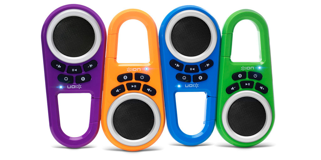 ION Clipster Ultra-Portable Bluetooth Speaker with Built-In Clip