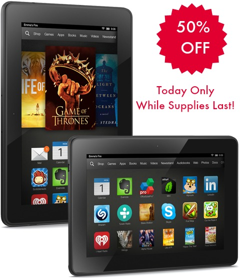 Gold Box Deal of the Day: 50% Off Kindle Fire HDX 4G LTE Tablets