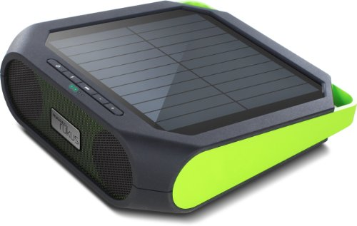 Solar-powered, Bluetooth-ready, smartphone-charging speaker