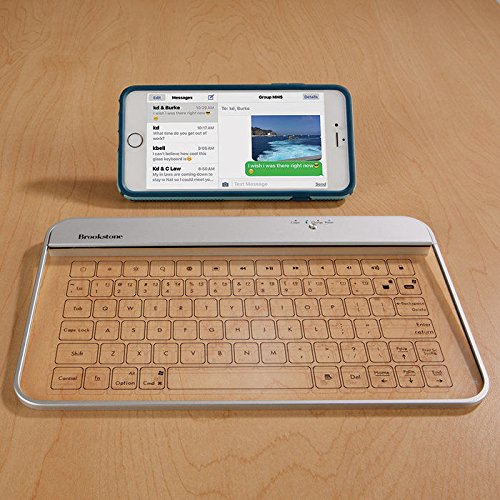Transparent Wireless Bluetooth Glass Keyboard