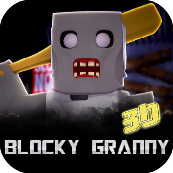 Blocky Granny Horror House 3D