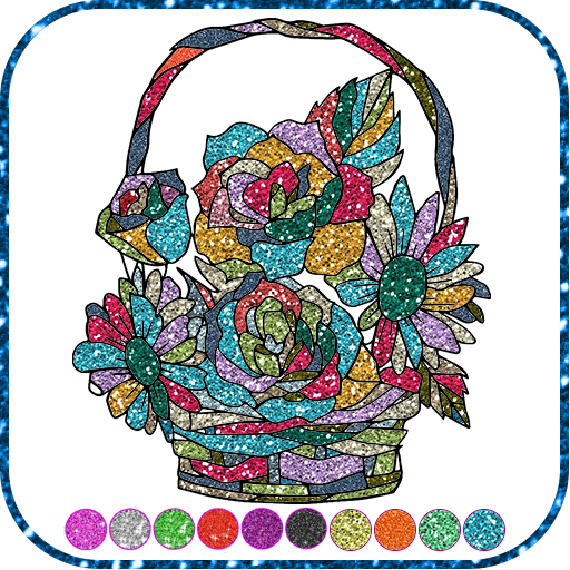 Flowers Coloring Glitter Games